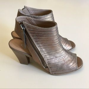 CL by Laundry Shoes - CL By Laundry Gold Peep Toe Bootie